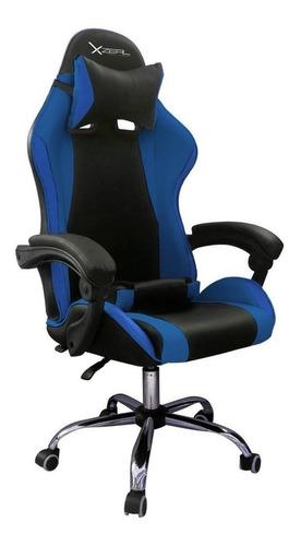 Imagen 1 de 1 de Silla de escritorio Xzeal XZ05 gamer ergonómica  negra y azul