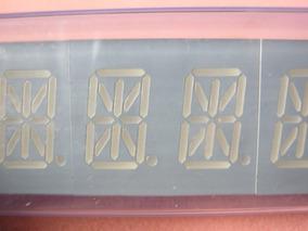 4 Peças Display Alfa Duplo Led Verde Catodo Comum 13.8mm