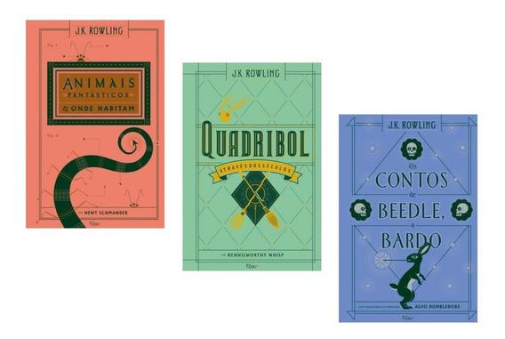 Kit 3 Livros - Biblioteca De Hogwarts - Capa Dura #