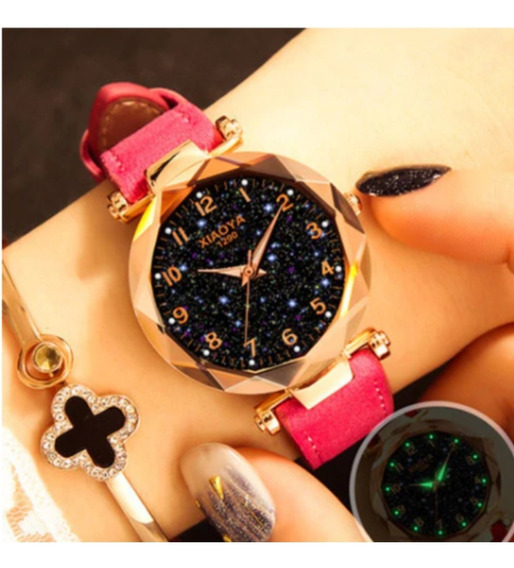 Relógio Feminino De Pulso Céu Estrelado A Pronta Entrega