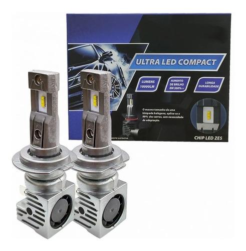 Kit Lâmpadas Ultra Super Led H7 6500k 10000 Lumens Chip Zes