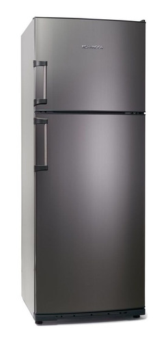 Heladera Koh-i-noor KDA-4394  acero con freezer 413L 220V
