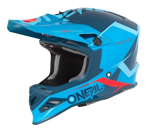 Casco Oneal 8 Series Motocross Enduro Mtb Atv Blizzard Azul