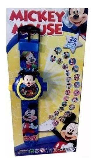 Relógio Digital Mickey Projetor De Luz Com 24 Imagens