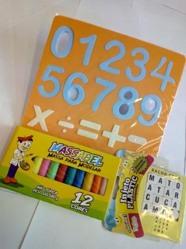 Combo Infantil De Educação Brincando C Letras E Números Eva