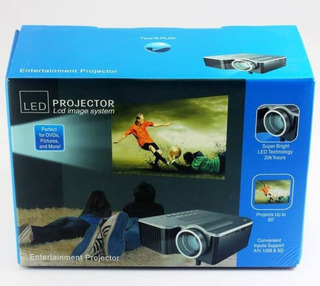 Mini Proyector Led Video Hd 600 Lumens Hdmi Vga Rca Usb+obsq