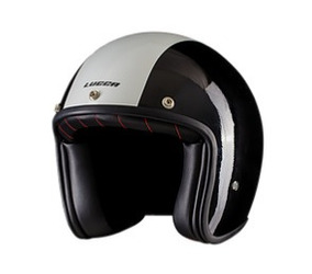 Capacete Lucca Line Glossy Black White +viseira Bubble +pala