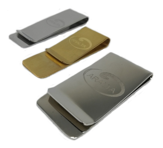 Set 3 Clip Para Billetes Acero Inoxidable Money Clip