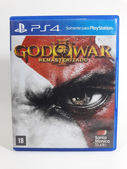 Jogo God Of War 3 Ps4 Mídia Física Remaster Legendas Em Port