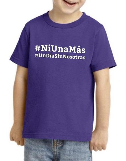 Camiseta Playera Niño Niña Feminista 9marzo #un Dia Nosotras