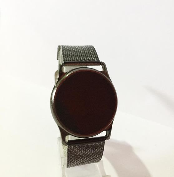 Relógio Kit C/5 Masculino Unissex Led Preto Atacado