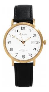 Reloj Eurotime Hombre 11/5016 Malla Cuero Calend Wr 50m