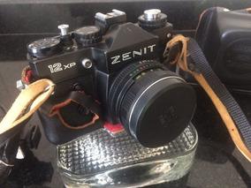 Camera Zenit 12-xp Lente 58mm 1.2 - Urss + Flash Mirage