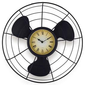 Relógio Parede Hélice Retrô Decoração Vintage Industrial