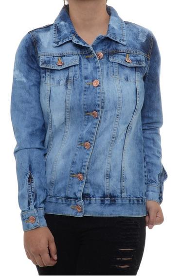 Jaqueta Jeans Tricats Destroier Azul