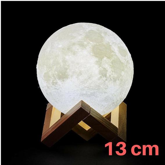 Luminária Lua Abajur Led Usb Touch 2 Cores 13cm Novidade