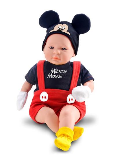 Boneco Mickey 48cm - Classic Dolls Recém Nascido - Roma