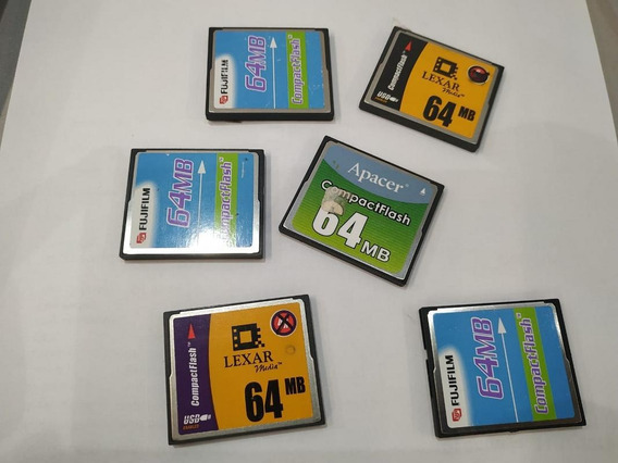 Lote Com 6 Compact Flash 64mb