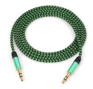 Cable Auxiliar 3.5mm Tipo Agujeta Reforzado Colores 1 Metro