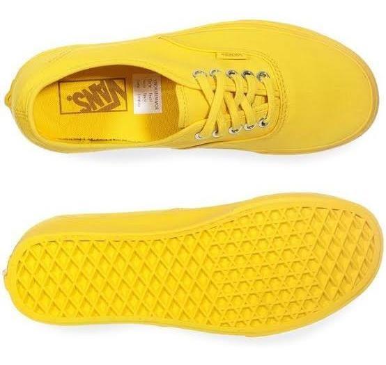 Tenis Vans Authentic Yellow