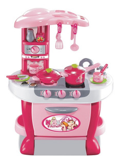 Set Cocina Infantil Con Horno Luz Sonido Ollas Chef 008-801