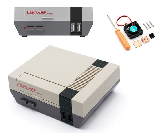 Retroflag Nespi Case Super Nes 8 Bits Case Raspberry+cooler