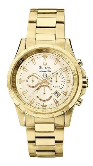 Relógio Masculino Bulova Analógico Wb30864x - Dourado