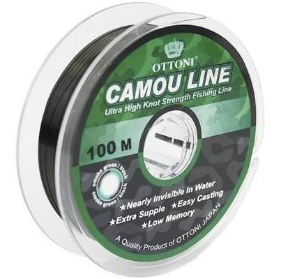Imagen 1 de 8 de Nylon De Pesca Camou Line 0,30 Mm Carretel X 100m Ottoni
