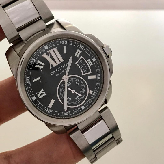 Cartier Calibre Full Steel Completo Impecável