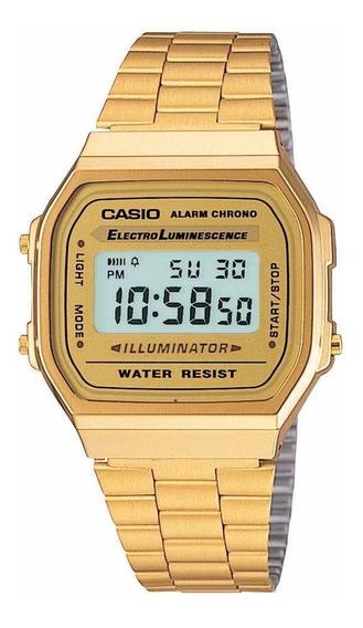 Relógio Casio Dourado Vintage Retro A168wg 9wdf Frete Grtais