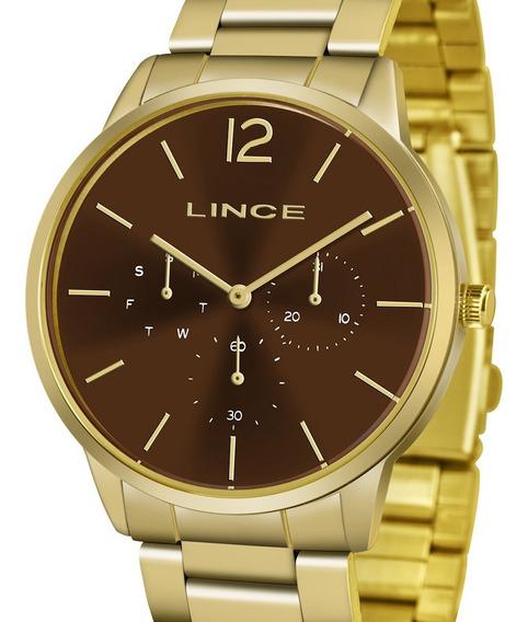 Relógio Lince Dourado Analógico Lmgj087l N2kx Feminino + Nf