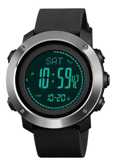 Relógio Masculino Skmei 1418 Bússula Barometro Altimetro
