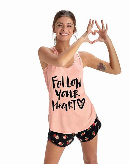 Musculosa So Pink Remera De Pijama Para Dormir Colores Vario