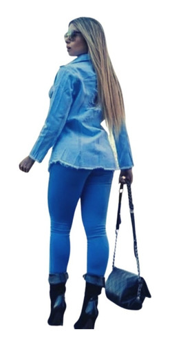 Imagem 1 de 3 de Calça Jeans Feminina Cintura Alta Escura Rasgada Cj002