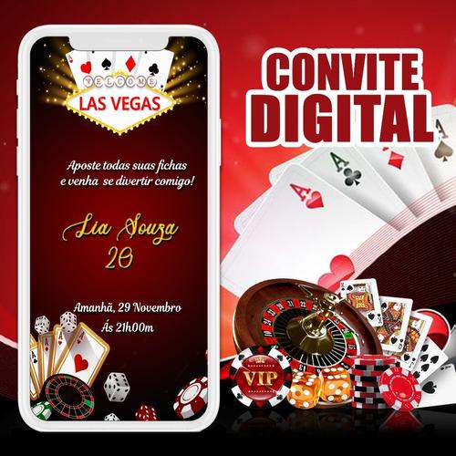 Convite Digital (virtual) - Las Vegas Cassino