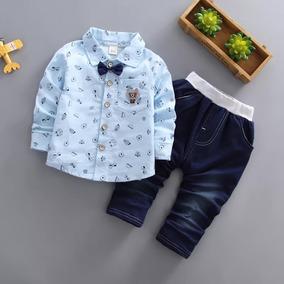 Conjunto Bebê Esporte Social Calça De Cotton Azul Importado