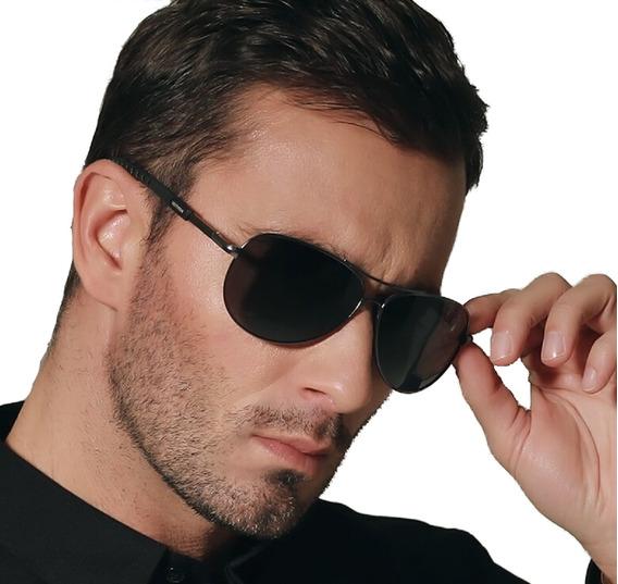 Óculos Escuros Polarizado Masculino Proteção Uv 400 Aviador