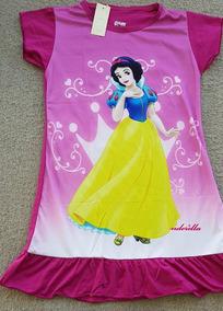 2f8f99dd633c74 Pijama Camisola Infantil -frozen-branca Neve-pequena Sereia