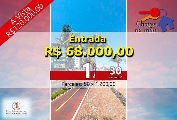 Kitnet Com 1 Dormitório À Venda, 30 M² Por R$ 120.000,00 - Ocian - Praia Grande/sp - Kn0061