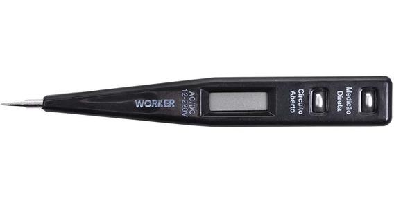 Chave Teste Digital De Voltagem 12v A 220v 197645 Worker