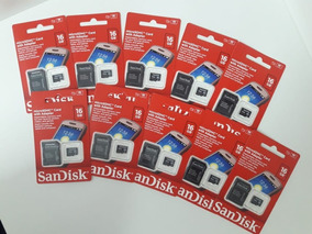 Kit 10 Mem Micro Sd 16gb Classe 4 / Sdsdqm-016g-b35a