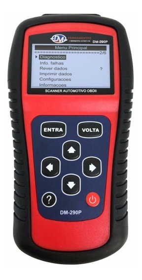 Scanner Automotivo Portátil Português Do Brasil - Dm-290p