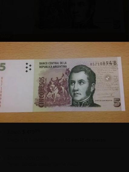 Billete De 5 Pesos Argentinos 2017
