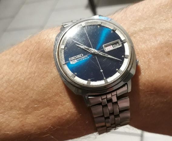 Relógio Seiko 5 Seikosha Automatic Antigo Mostrador Azul
