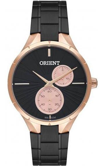 Relogio Orient Ftssm045 P1px Multifincional Preto Com Rose