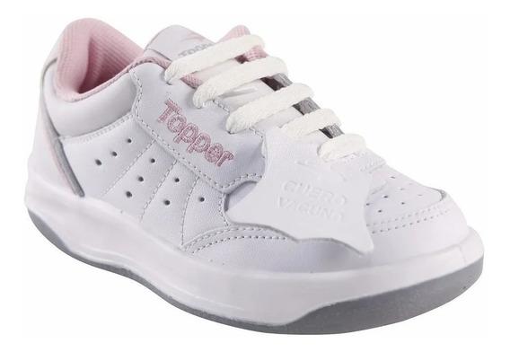 Zapatillas Blancas Escolares Topper Originales Envios Gratis