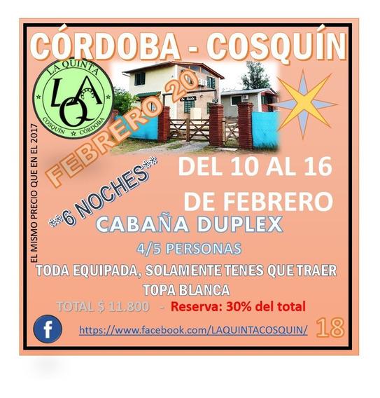 Cabañas La Quinta - Cosquin - Cordoba 4/5 Personas