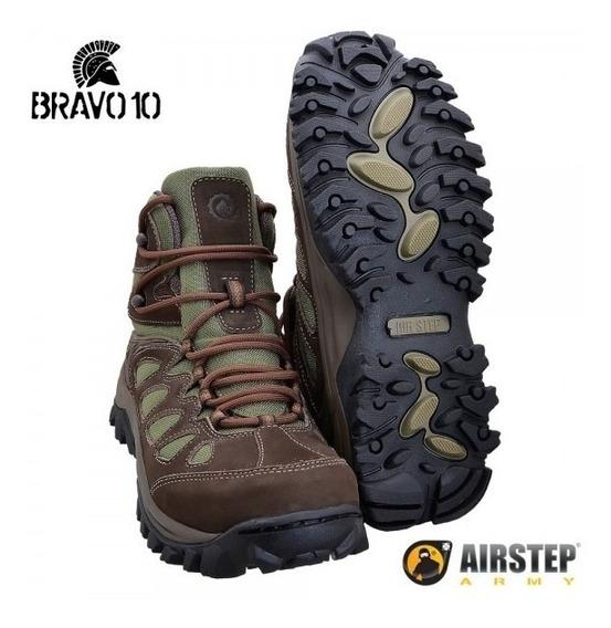 Bota Hiking Boot Bravo10 Green Original Airstep By Bravo21