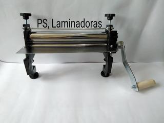 Láminadora, Cilindradora De Masa Manual De 30cm,color Negro