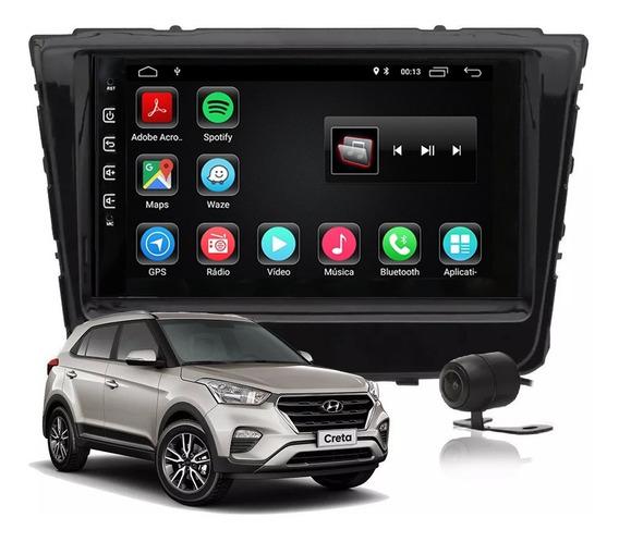 Central Multimídia Hyundai Creta Android 9.0 Tv Wifi Waze